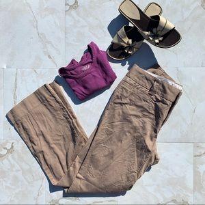 Gap Curvy Fit Stretch Tan Dress Women 8 Regular